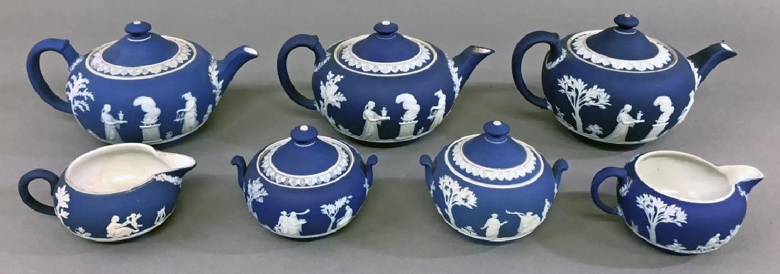 Early Wedgwood Teapots, Sugar Bowls, Creamers