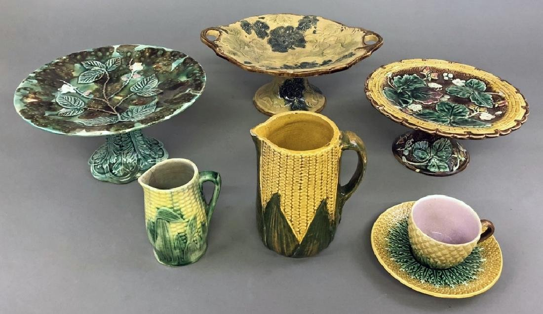 Grouping of English Majolica
