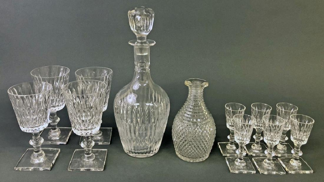 Crystal Decanters and Hawkes Goblets & Cordials