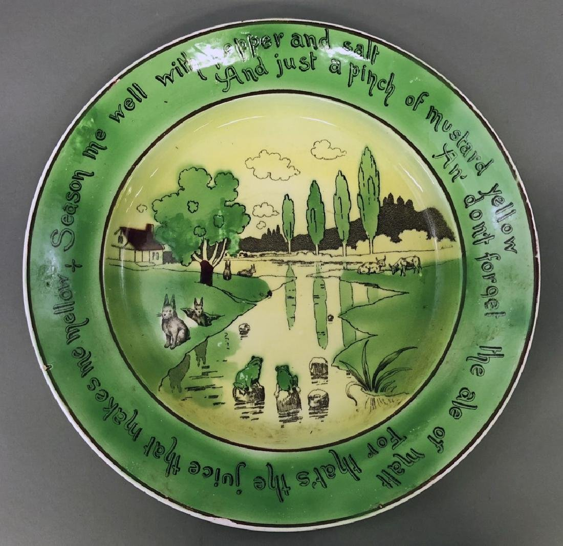 St. Augustine Ware Rabbit Motto Charger and Plates - 2