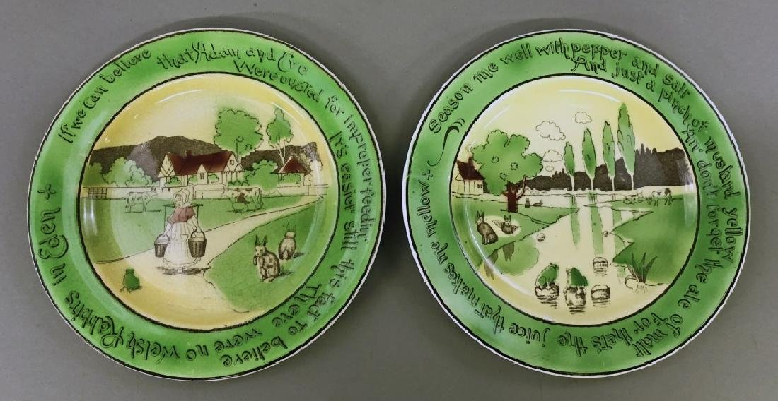 St. Augustine Ware Rabbit Motto Charger and Plates - 3