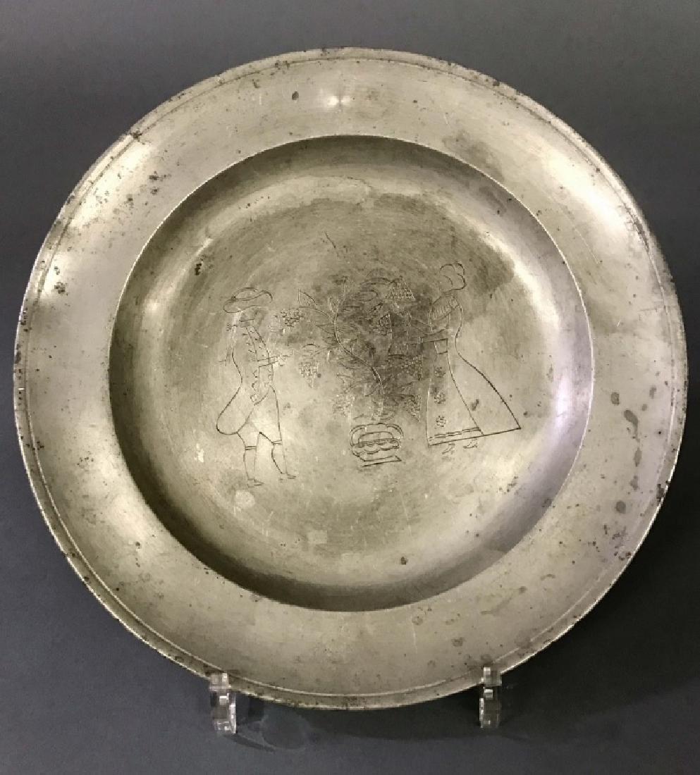 I.B. Finck English Pewter Plate