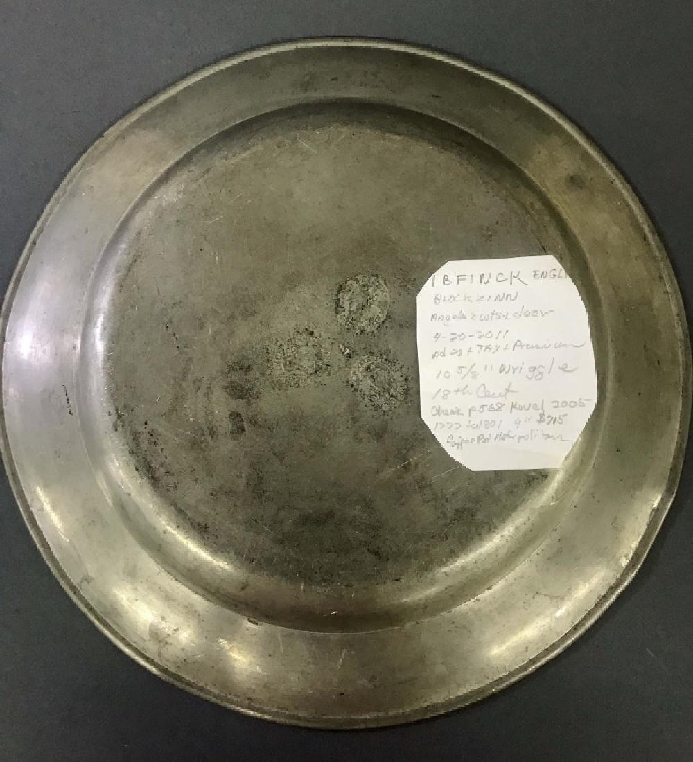 I.B. Finck English Pewter Plate - 2