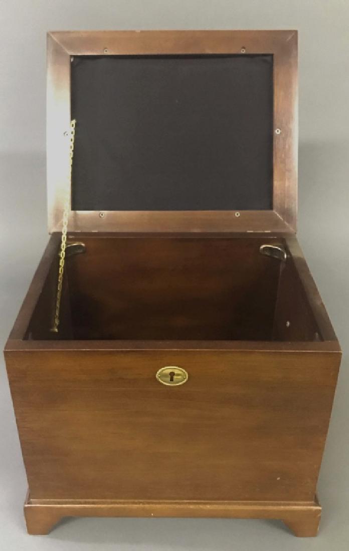 Freeman & Co. Mahogany Footstool Storage Chest - 4