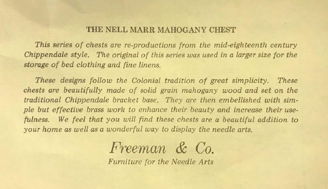 Freeman & Co. Mahogany Footstool Storage Chest - 5
