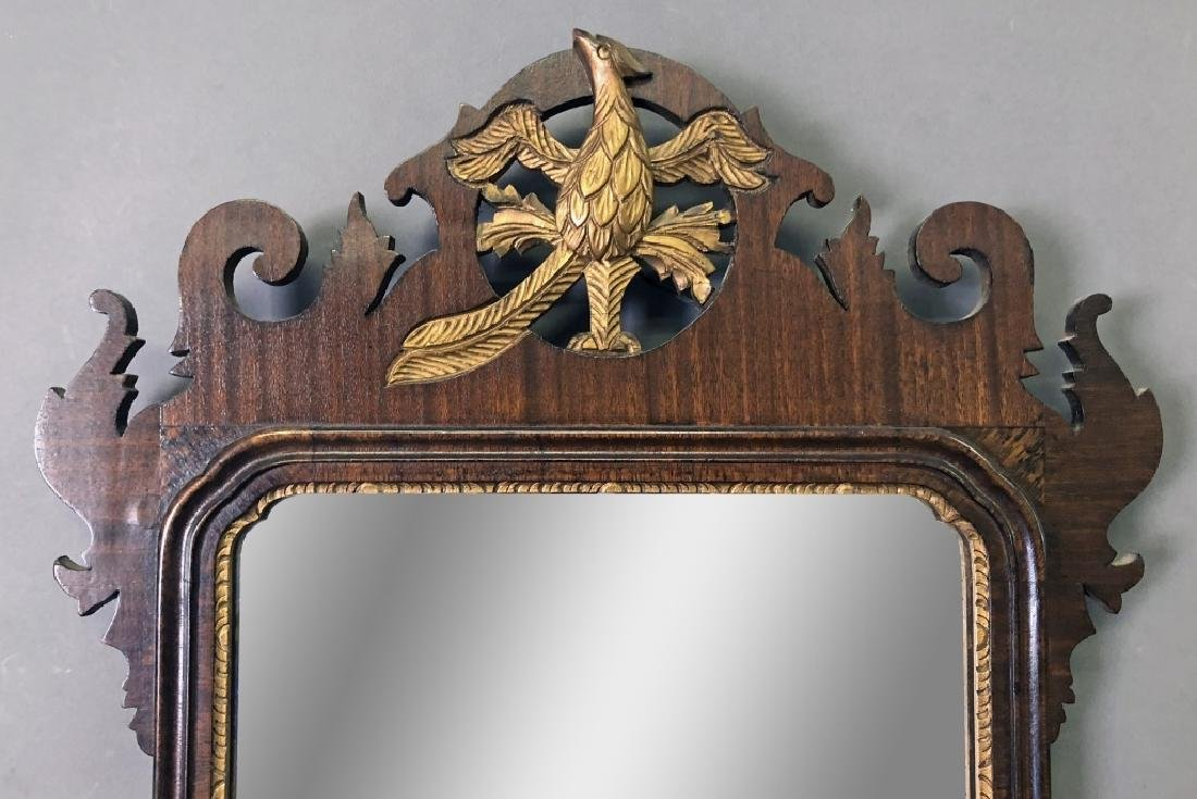 Large Chippendale Style Mahogany Mirror - 2