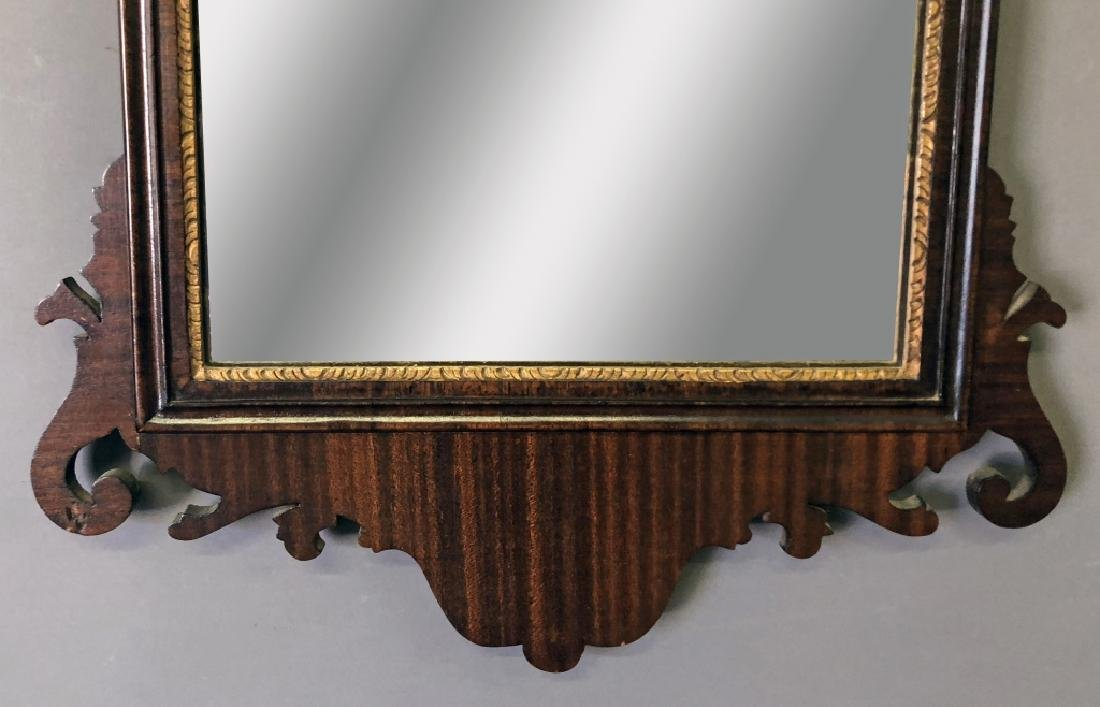 Large Chippendale Style Mahogany Mirror - 3