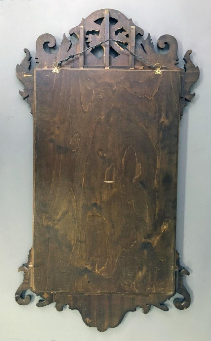 Large Chippendale Style Mahogany Mirror - 4