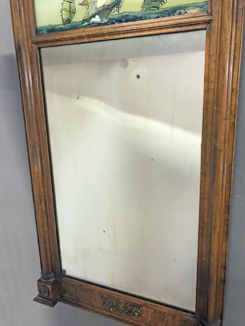 Sheraton Mahogany Mirror - 5