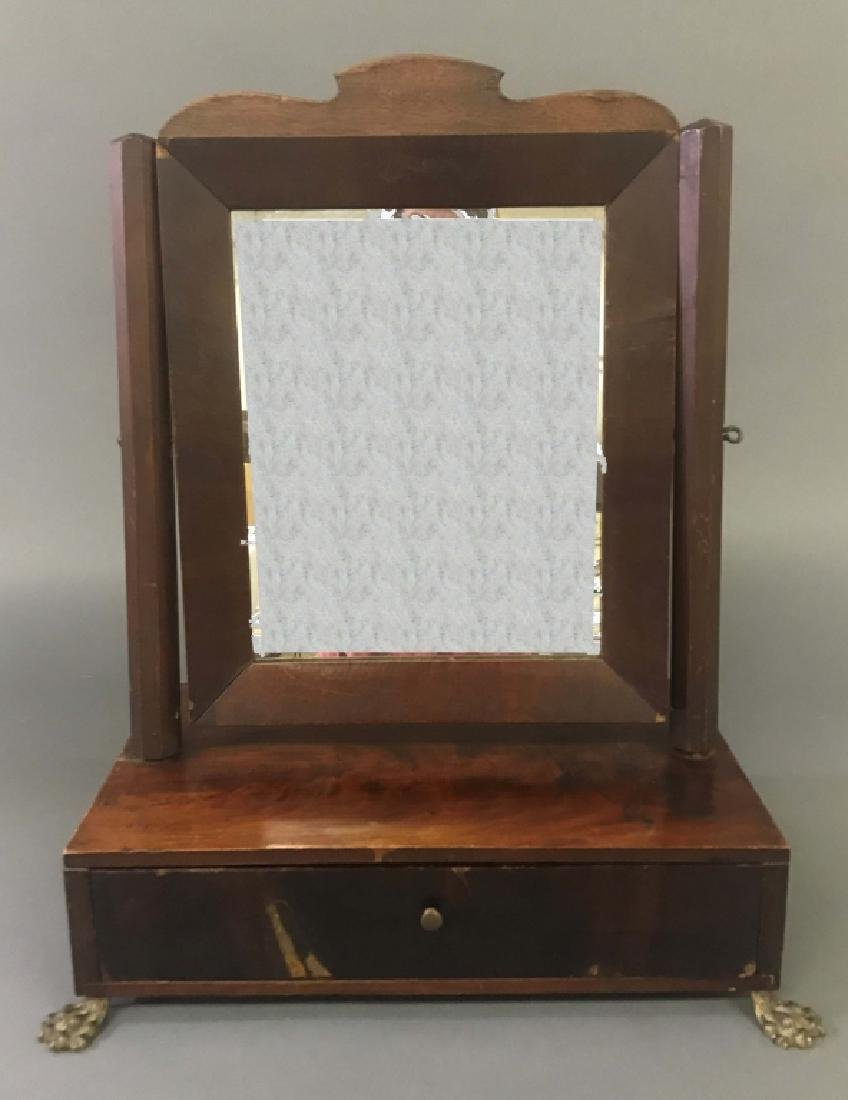 Mahogany Veneered Shaving Stand