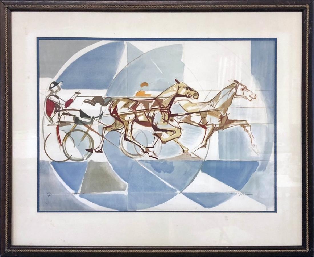 "Jacques Despierre Signed Lithograph ""The Race"""
