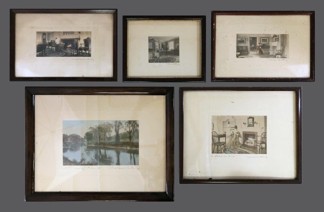 Five Signed Wallace Nutting Prints