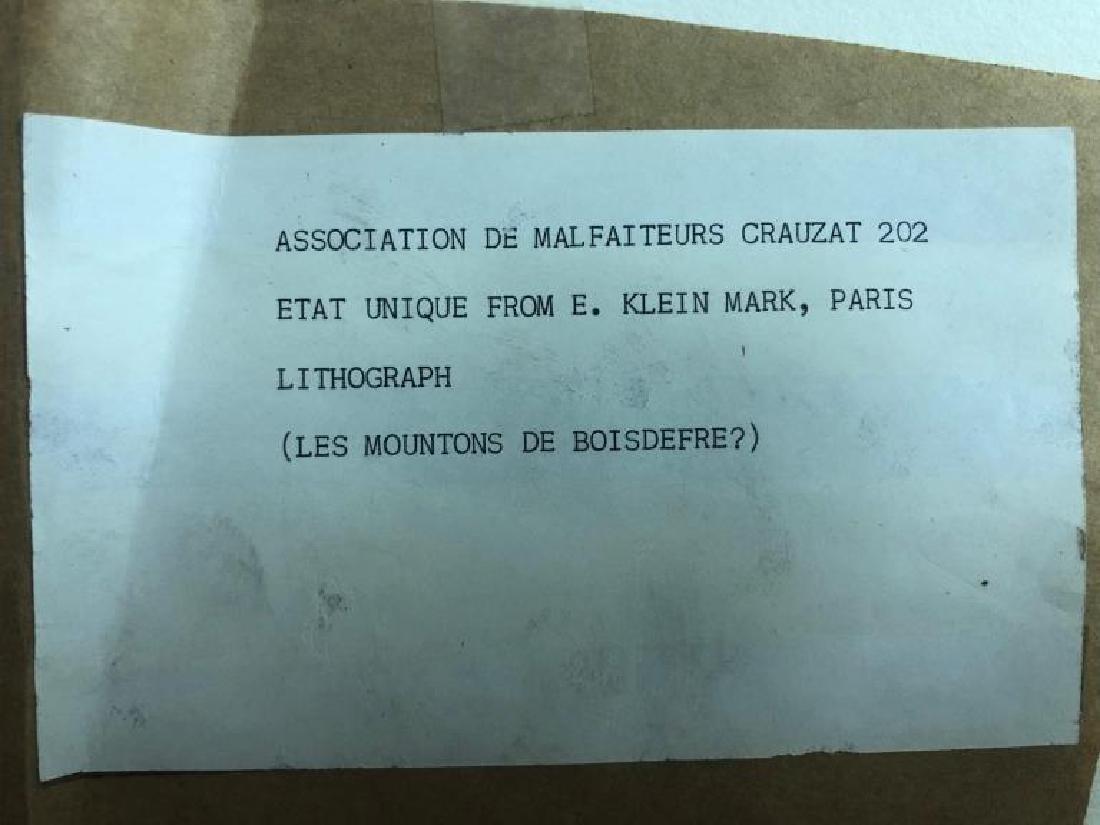 """Signed Lithograph """"Les Moutons de Boisdeffre"""" - 6"""