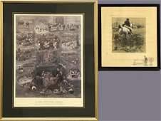Two Fox Hunting Prints