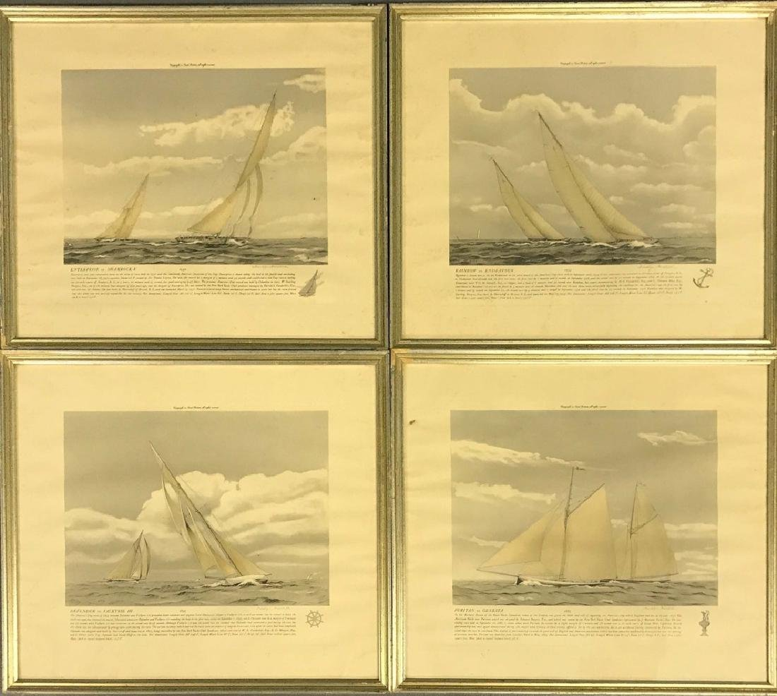 Four Franklyn Fairchild Racing Prints
