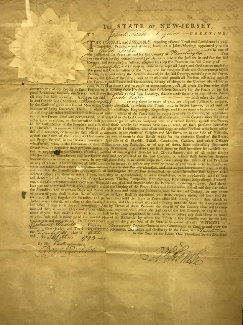 """1793 """"Appointment to Justice of the Peace"""" - 3"""