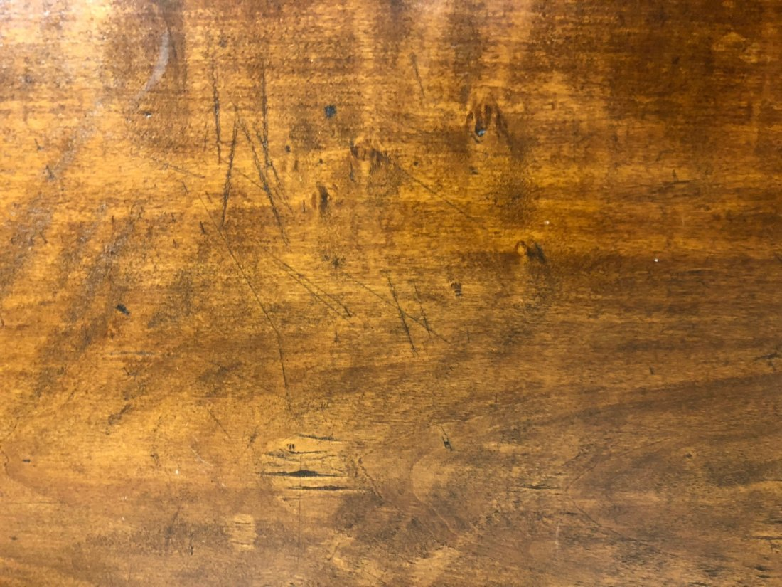 Cherry Slab Wood Coffee Table - 6