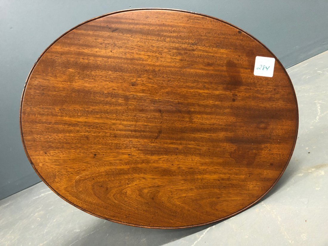 Federal Mahogany Oval Top Candlestand - 4