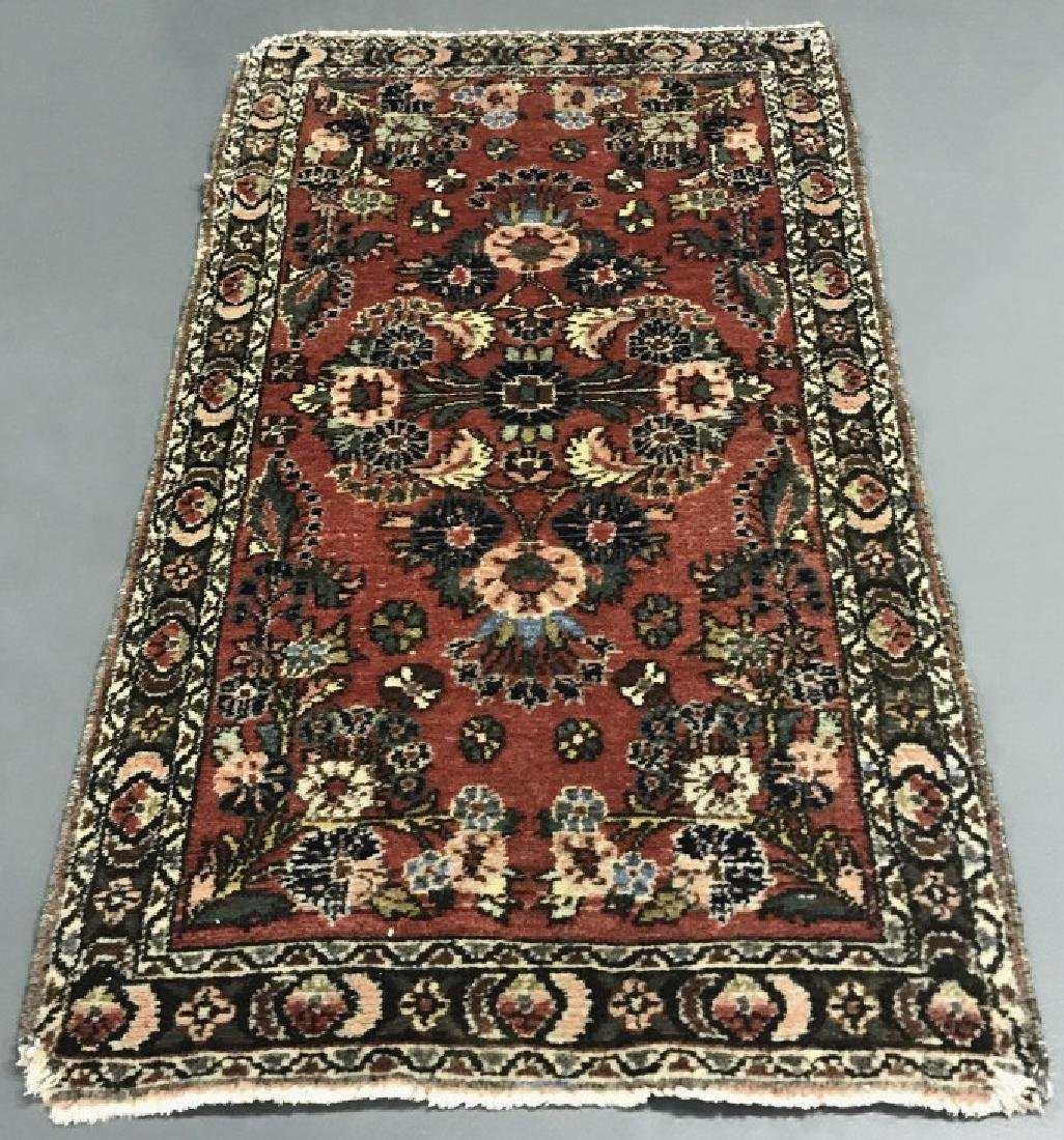 Persian Runner with Red Field