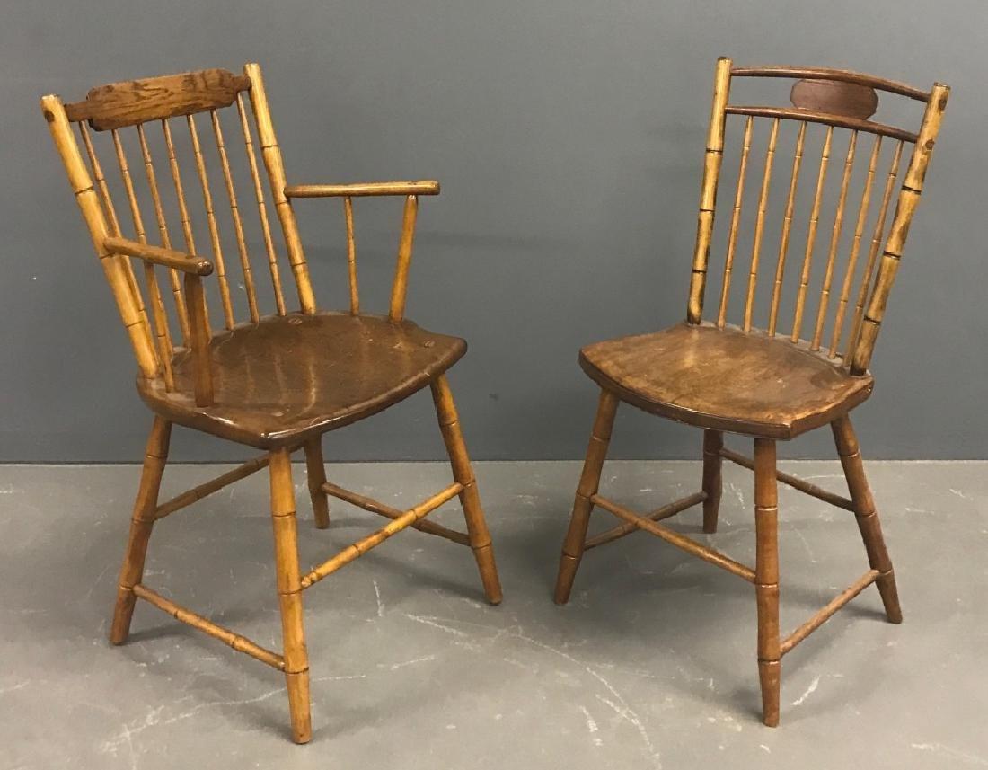 Two Philadelphia Windsor Chairs