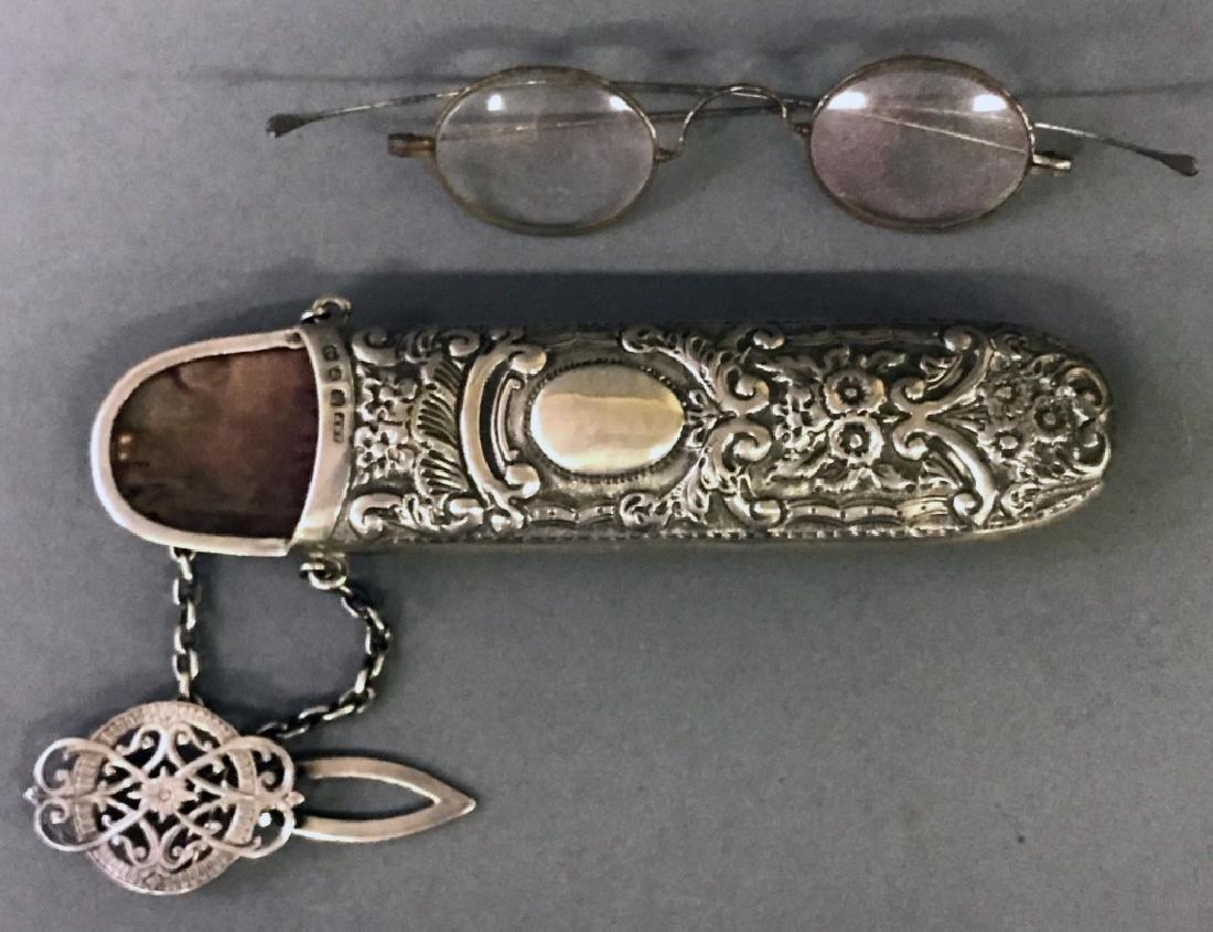 Victorian English Silver Eyeglass Case