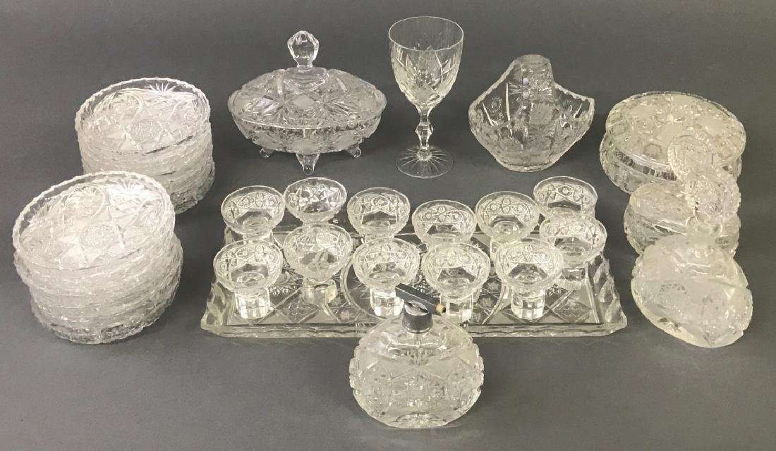 Cut Glass Tableware Grouping