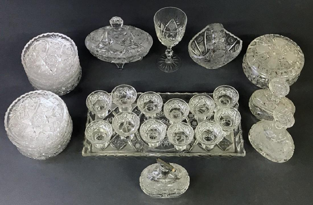 Cut Glass Tableware Grouping - 2