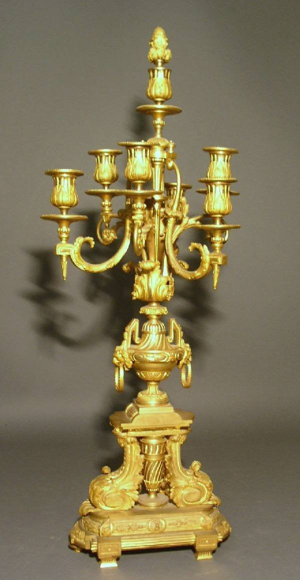 20: French candelabra with gilt decoration, 19th c. 29