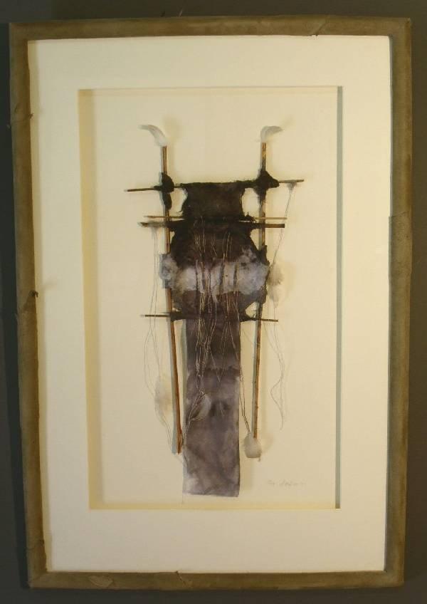 "25: Framed American Indian craft signed ""Pat Littlefiel"