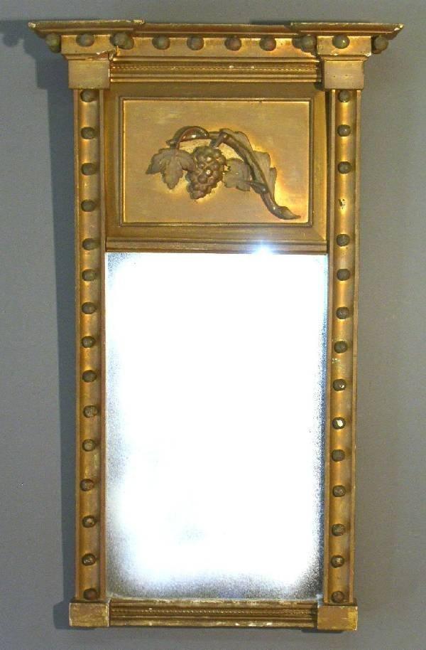"267: Gilt wood mirror. 37""h.x22""w."