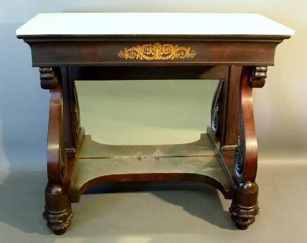272: Empire mahogany pier table, c.1835, with gilt ste