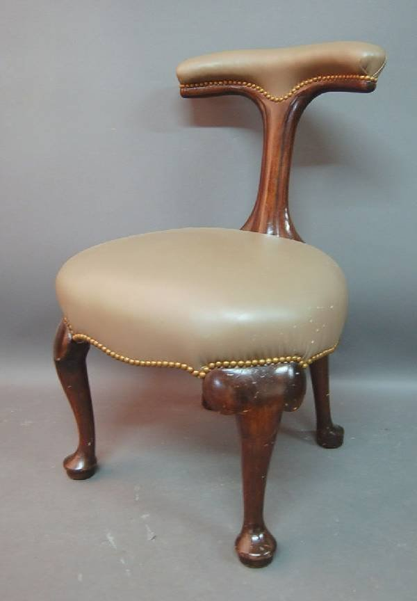 """273: George I side chair, with rear drawer. 34""""h.x21.5"""