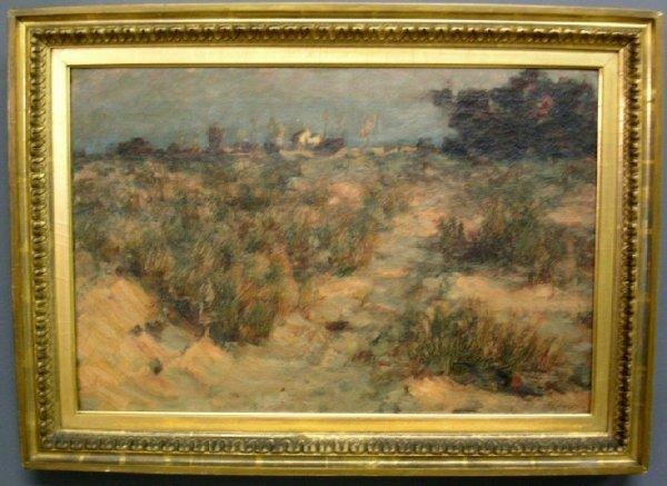 400: Oil on canvas impressionist landscape painting sig