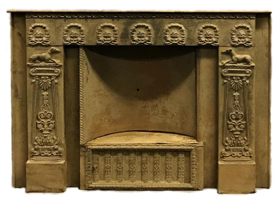 Victorian Metal Fireplace Surround Summer Cover