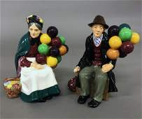 Two Royal Doulton Figurines of Balloon Sellers