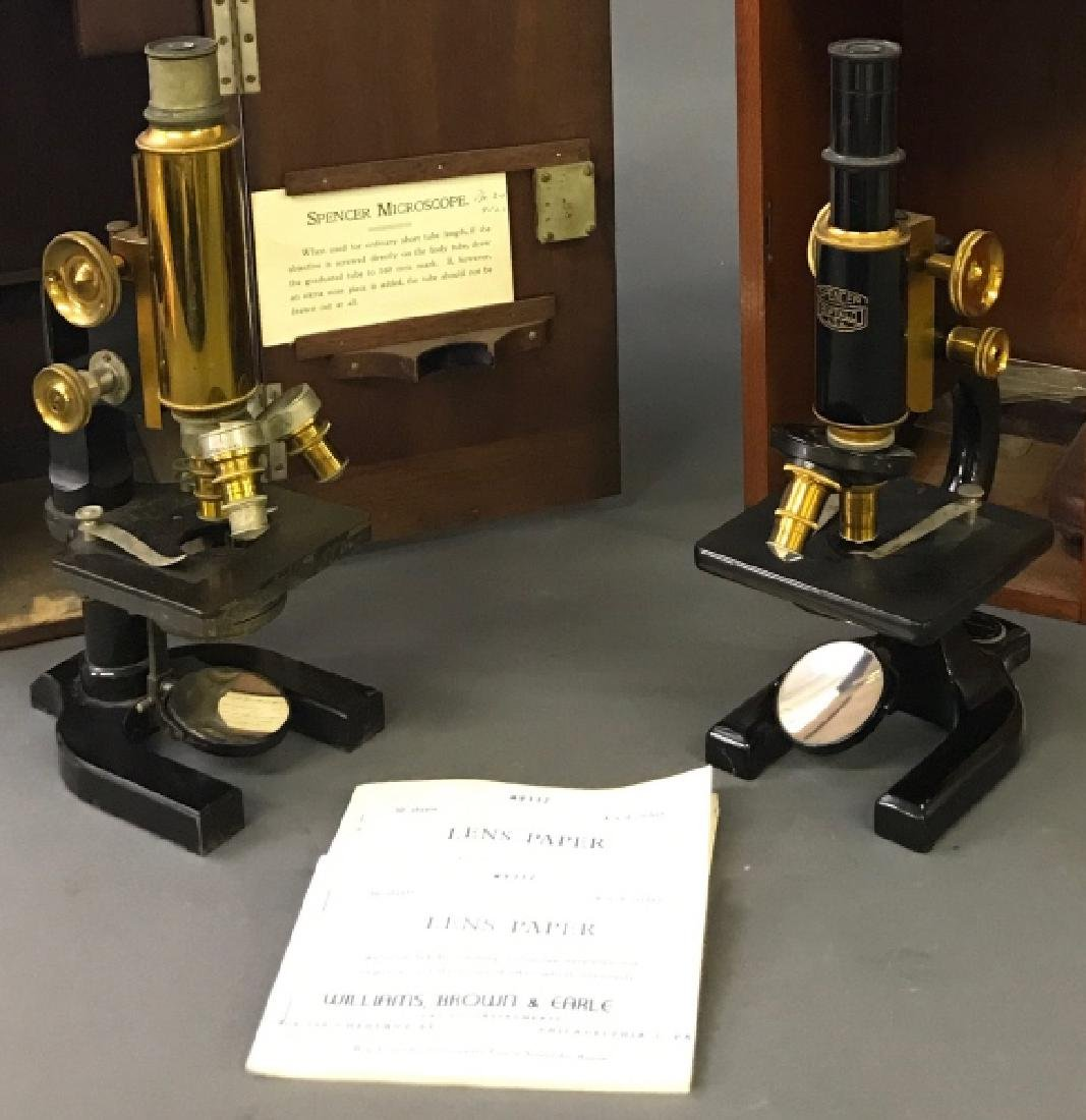Cased Spencer Microscope with another Example - 3