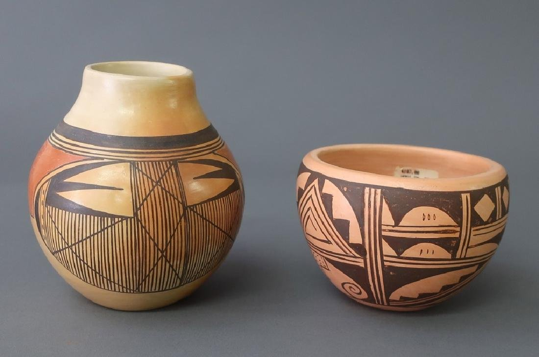 Hopi Jar Together With Another Example
