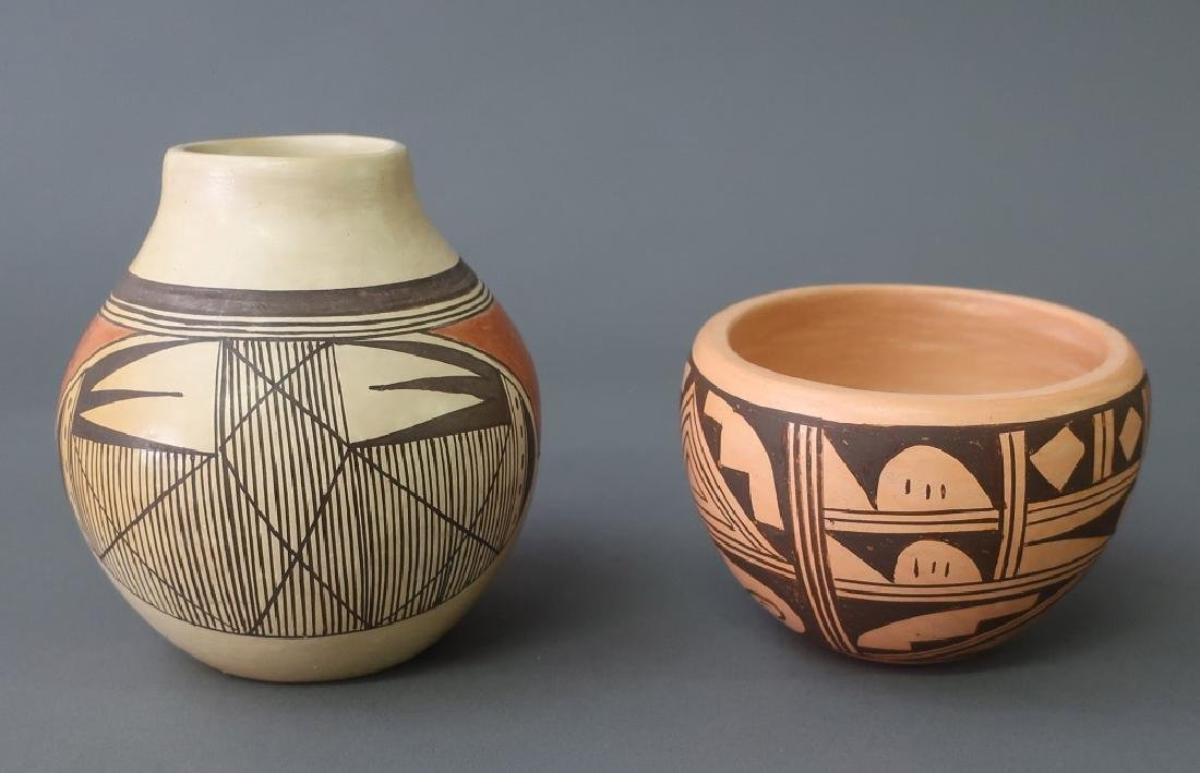 Hopi Jar Together With Another Example - 2