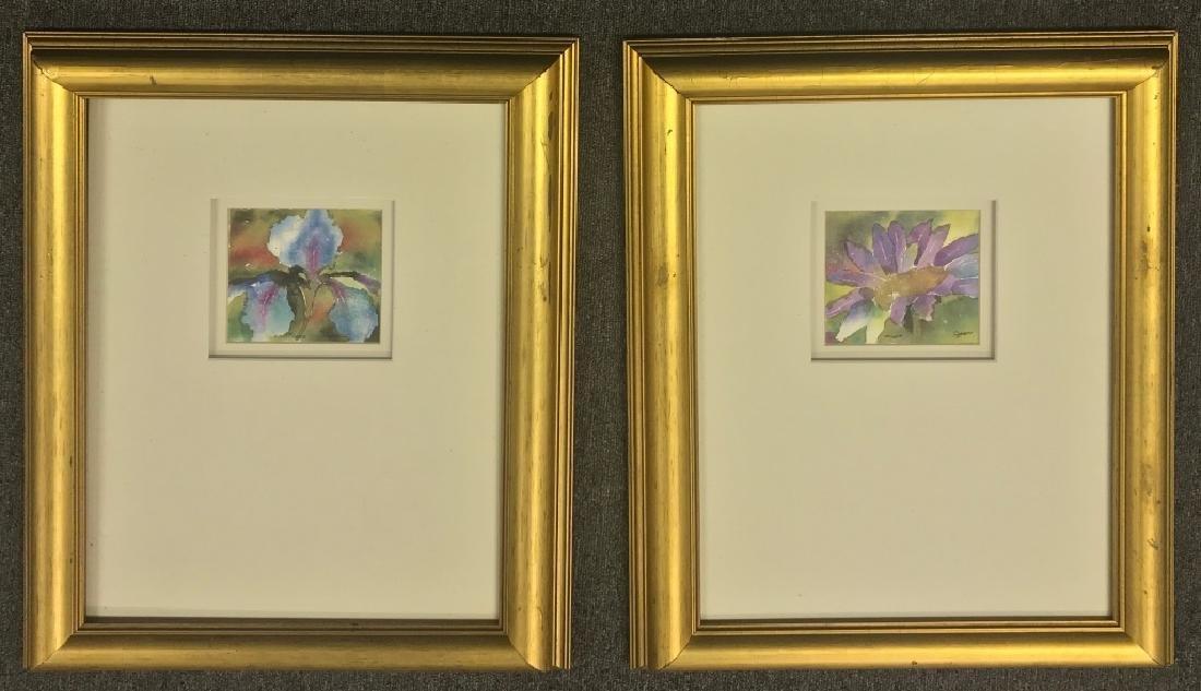 Pair of Framed Prints of Flowers