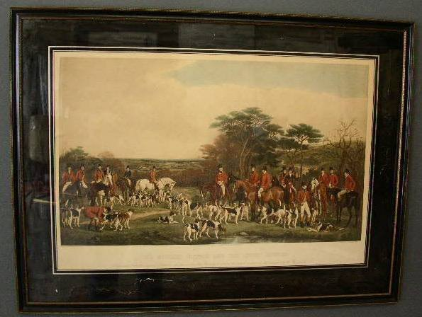 """8: Framed equine print """"Sir Richard Sultan and the Quor"""