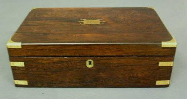 "39:  English mahogany lap desk, 19th c. 5.25""h.x16""w.x9"