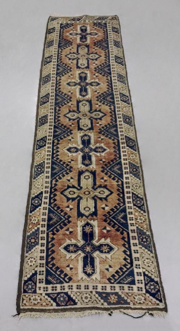 Persian Hall Runner w/ Geometric Pattern