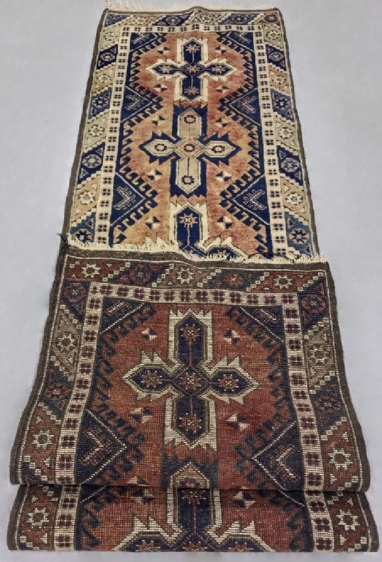 Persian Hall Runner w/ Geometric Pattern - 2