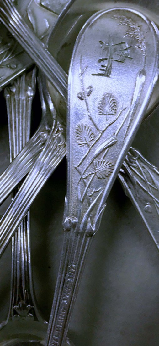 "Sterling Tiffany & Co. ""Audubon"" Pattern Flatware - 5"