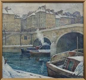 A.V. Greene Impressionist View of the Seine, Paris
