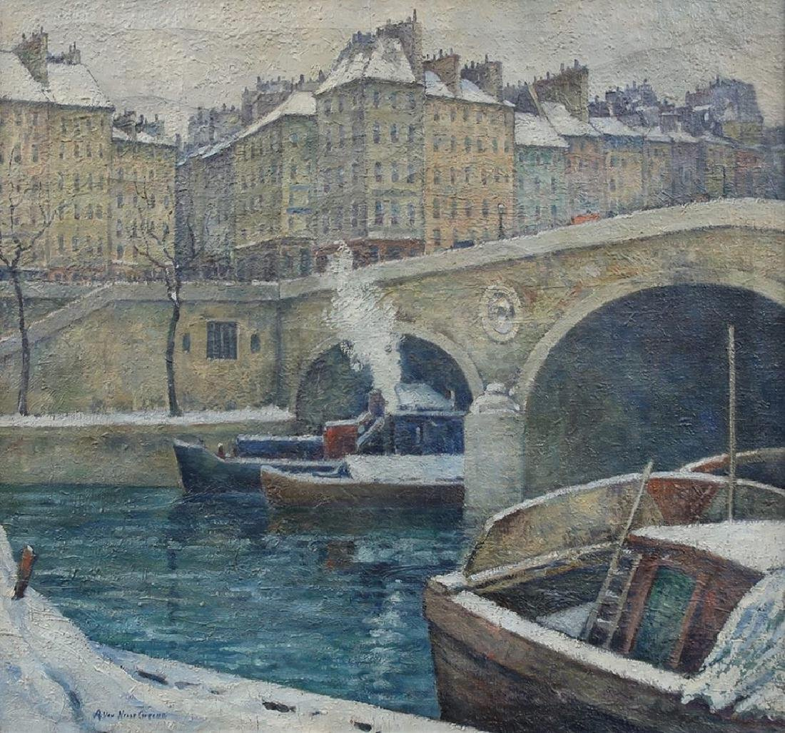 A.V. Greene Impressionist View of the Seine, Paris - 2