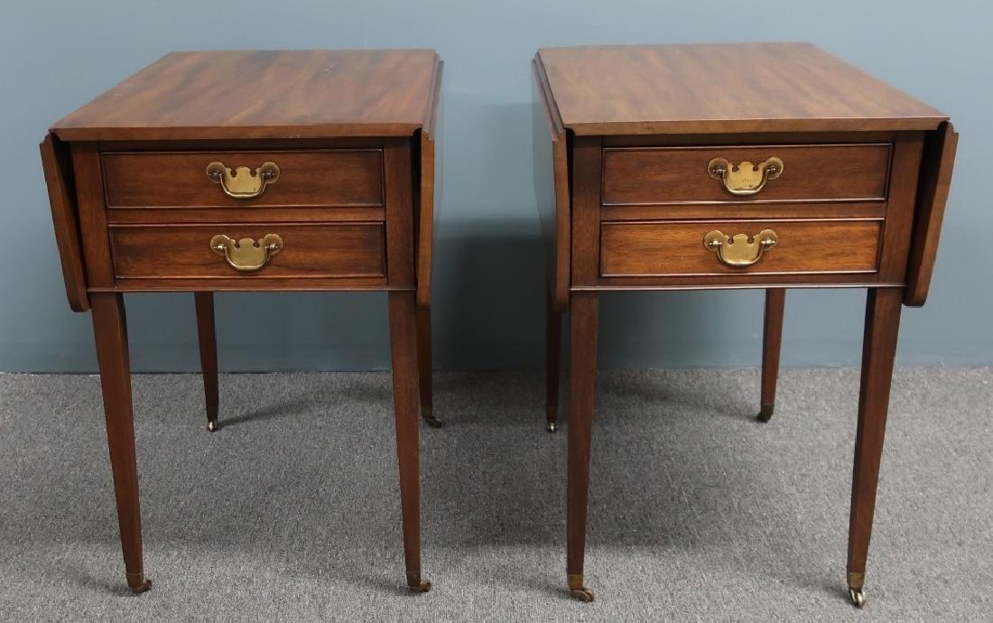 Pair Henkel Harris Hepplewhite Style End Tables