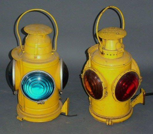 7: Two railroad marker lights, Adlake & Handlan, electr