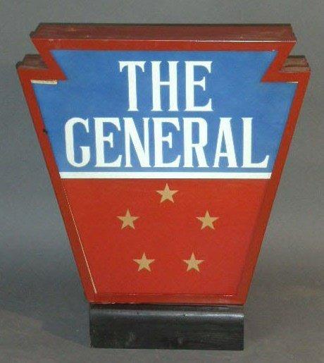 """8: Railroad keystone light- """"The General"""". 25""""h.x21""""w.x"""
