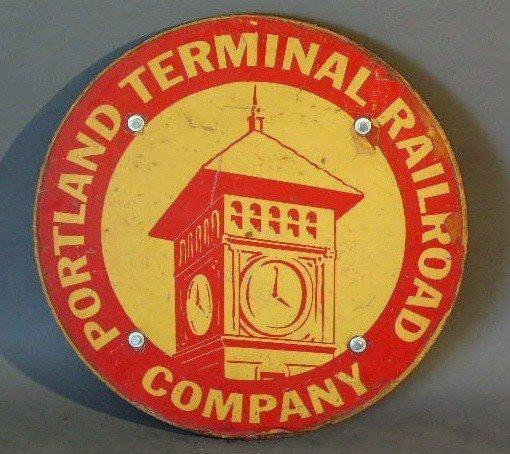 "13: Railroad sign- ""Portland Terminal Railroad Company"""